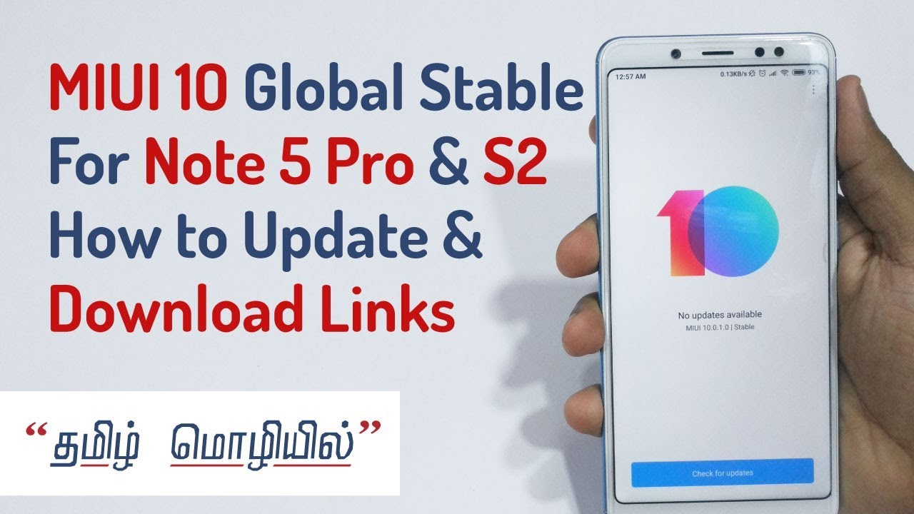 MIUI 10 Global Stable ROM for Redmi Note 5 Pro, Y2, Mi5, Mix & More - How  to update + Download links