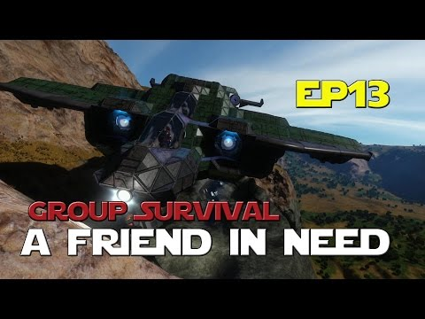 Space Engineers - Group Survival Series - Ep 13 - A Friend In Need