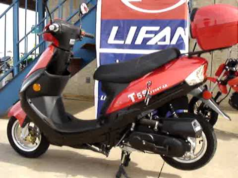 Velocity Tv Channel >> American Lifan LF50QT-2A SCOOTER - YouTube