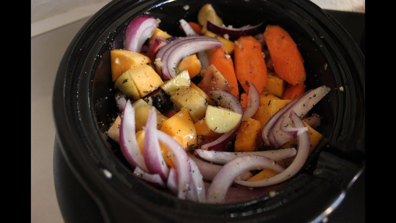 Slow Cooker Roasted Vegetables Recipe Slow Cooker Vegetarian