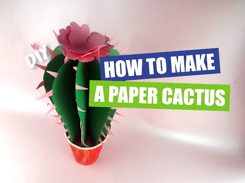 DIY: How to Make a Paper Cactus - Kids crafts
