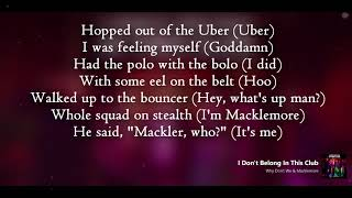Why Don't We ft Macklemore   I Don't Belong in This Club (Lyrics)
