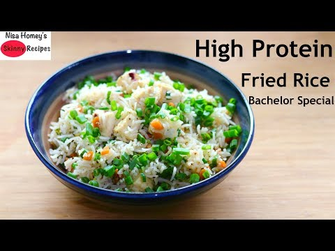 Healthy High Protein Fried Rice Recipe - Tasty, Easy To Make Rice Recipe At Home - Paneer Fried Rice