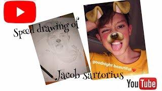 Speed Drawing of Jacob Sartorius 💙