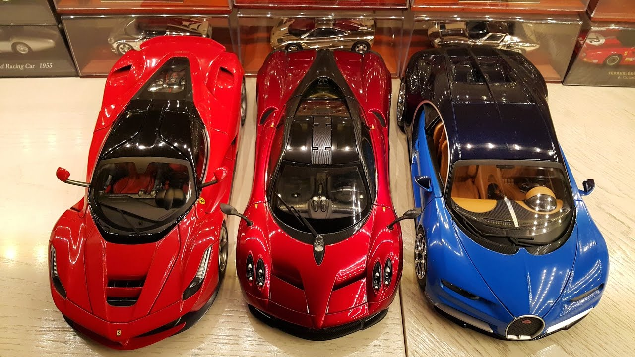 LAFERRARI vs. BUGATTI CHIRON vs. PAGANI HUAYRA 1:18 - YouTube
