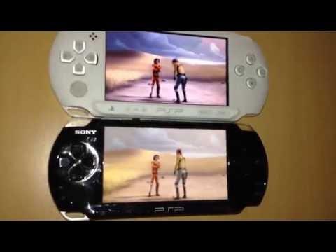 PSP e1004 Street vs PSP 3004 PB movie film clip compare