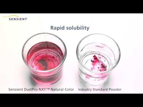 Sensient - DustPro NXT - The Natural Color, No Dust Solution