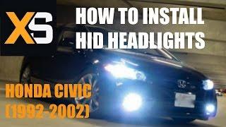 DIY HID Xenon Install: Honda Civic 1992-2002