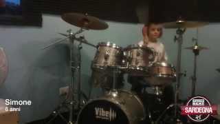 Simone 6 anni, allievo Bateras Beat