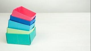 Proste Pudełko Origami