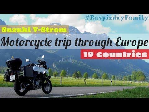 19 стран по Европе на мотоцикле | Suzuki V-Strom 1000