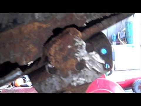 Broken Leaf Spring Bracket Truck Frame Repair Youtube