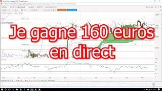 Devenir Trader : Je gagne 160€ en direct ! Apprendre le trading rapidement