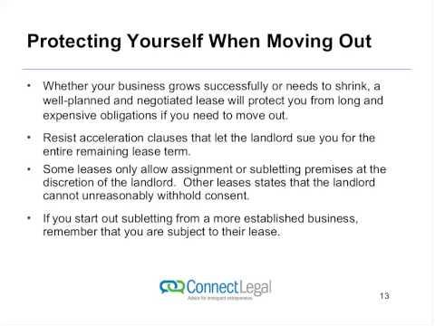 Webinar Understanding Commercial Leasing