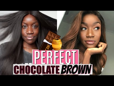 SISSS ! I WASN'T READY ! CHOCOLATE / DARK BROWN DYE For My DARK SKINNED SISTERS ! | DYHAIR777