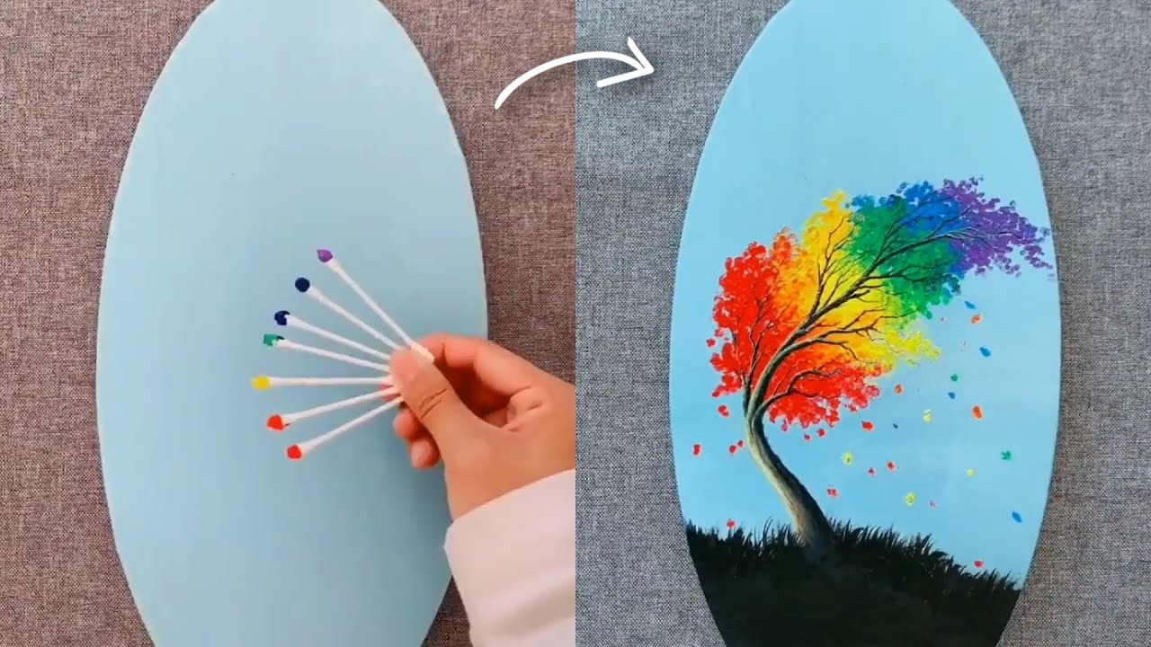 5 Easy Painting Tricks For Beginner Beautiful Ideas Youtube