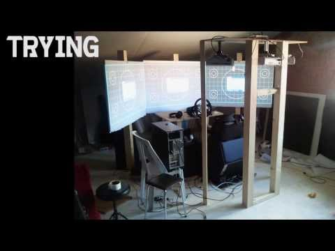 HARDCORE SIM RACING! rig installation 2.0