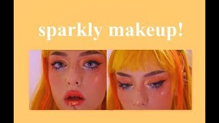 glitery party makeup tutorial