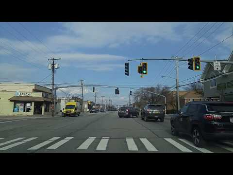 Driving From Floral Park To New Hyde Park In Nassau,New York