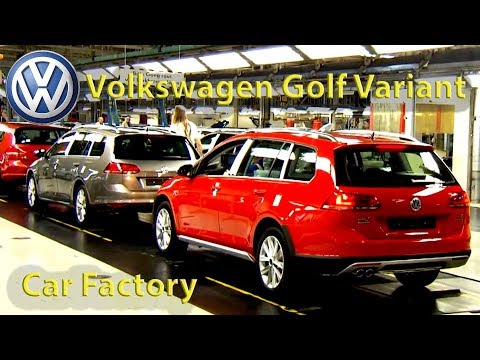 Volkswagen Golf Variant Production (Zwickau, Germany) VW Factory,  Golf Assembly Line