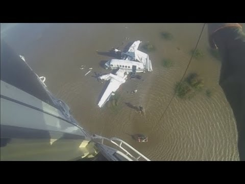 Dramatic rescue after plane crashes into river in Argentina