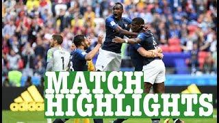 France vs Australia World Cup Football Highlights 2018