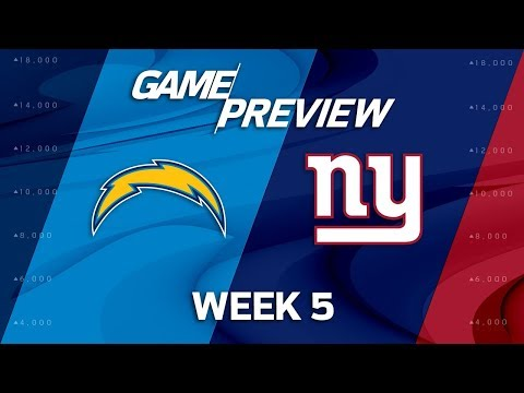 Los Angeles Chargers vs. New York Giants   Week 5 Game Preview   NFL