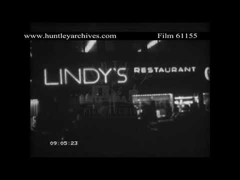Champagne, Chinese Restaurant and Automat, New York.  Archive film 61155