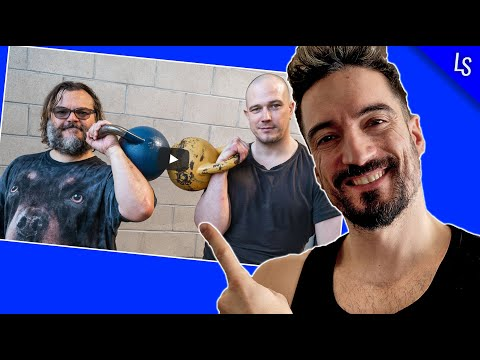 Kettlebell Coach reacting to Jack Black getting JACKED with KETTLEBELLS