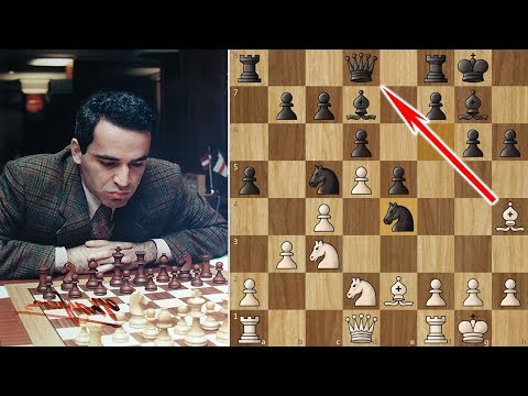Kasparov Sacrifices his Queen on move 12!