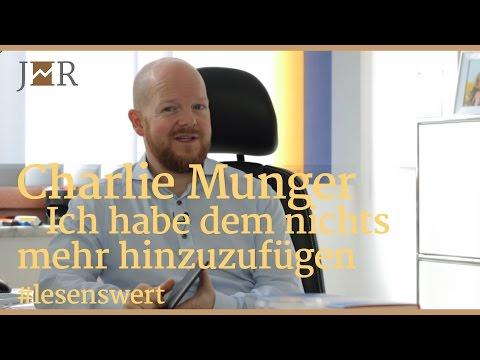 #lesenswert - Charlie Munger - Ich habe dem nichts mehr hinzuzufügen