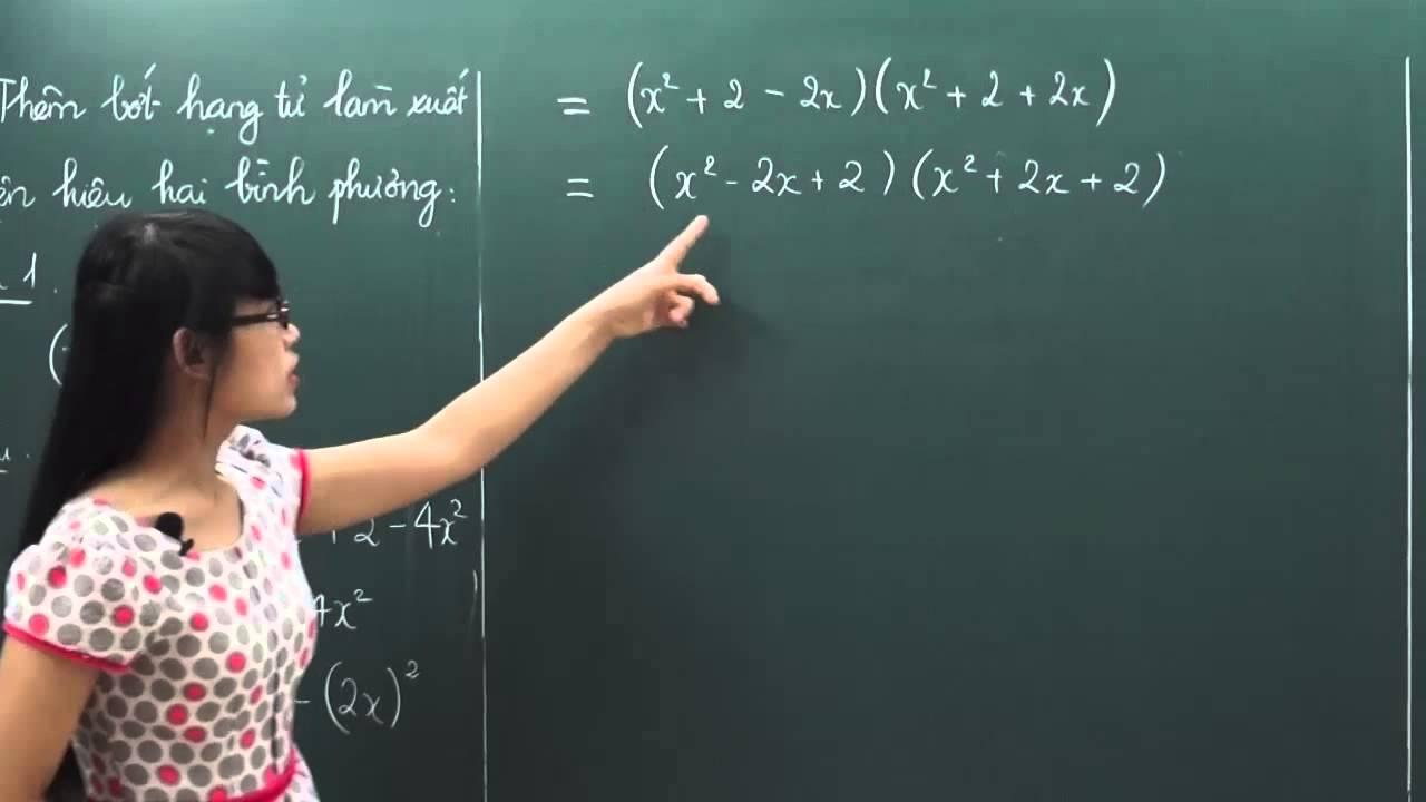 Toán lớp 8 – Phương pháp thêm bớt hạng tử – Cô Trịnh Thị Thúy [Hocmai.vn]