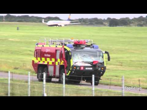 Huge Fire and Rescue truck London Stansted airport