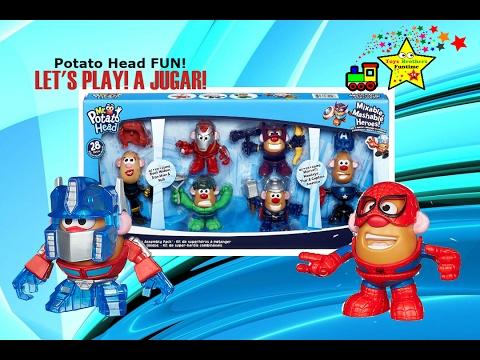 Mr Potato Head Marvel Heroes Avengers Sr Cara De Papa