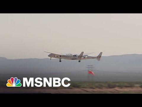 Watch: Virgin Galactic Spaceship Takes Off From Runway