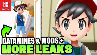 New Pokemon Switch Leaks & Datamine! Ash Texture Mod & Shiny Counter in Pokémon Let's Go Pikachu & E