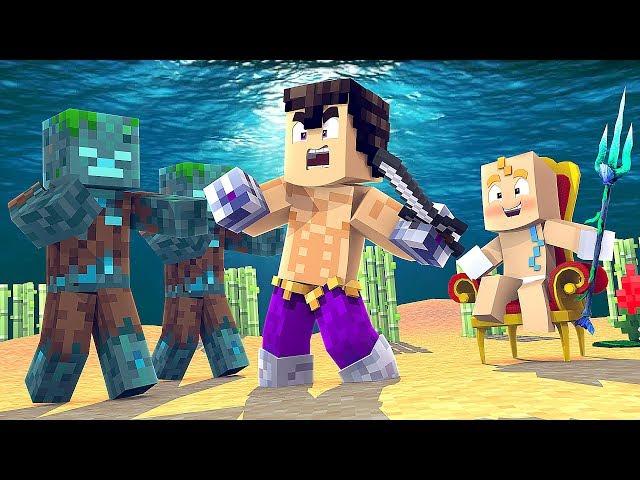 El tridente de neptuno y la isla tortuga Minecraft Con Noobs