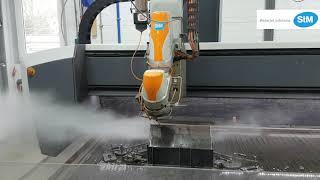 StM Wasserstrahlschneiden - Stahlträger