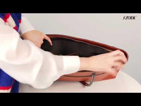 D10V113 미국 S-ZONE 여성 가죽 워크 토트백 노트북 가방 숄더백