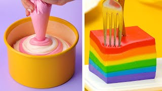Simple Colorful Cake Decorating Ideas Impress All the Rainbow Cake Lovers | So Yummy Cake