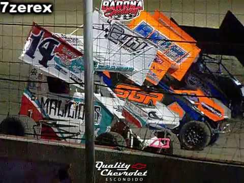 Lighting Sprints Main Red Flag Barona Speedway 10-20-2018