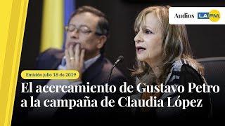 El acercamiento de Petro a la Campaña de Claudia López por la alcaldía de Bogotá