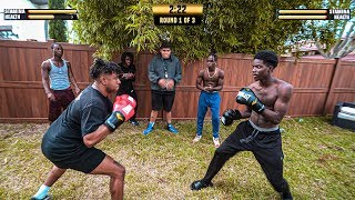 BOXING MY GIRLS, EX BOYFRIEND FOR $10,000 WAGER!! GUNS DOWN GLOVES UP  BOXING TOURNAMENT CHALLENGE!!