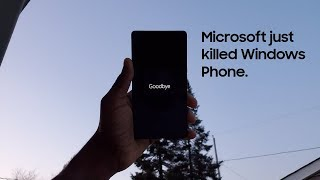 Itand39s Officially Discontinued  R.i.p. Windows Phone