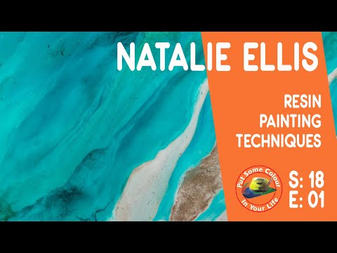 Resin painting techniques and tutorial with Natalie Ellis I Colour In Your Life