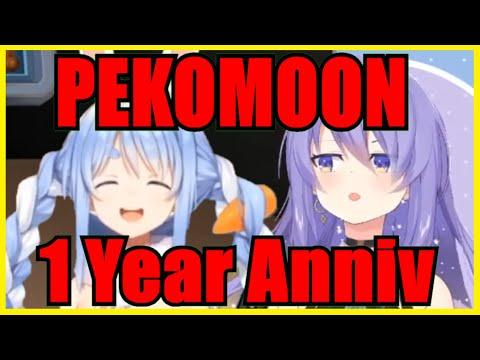 Pekora & Moona: 1st Year Anniversary Collaboration Highlights【PekoMoon】【Hololive | Eng Sub】