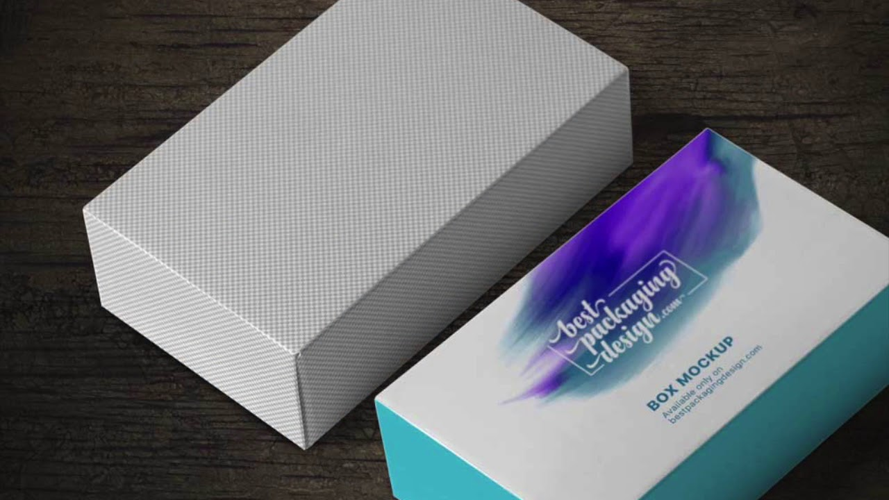 Download Rectangle Box Mockup Free PSD - YouTube