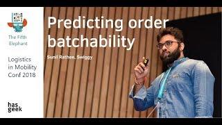 Predicting order batchability