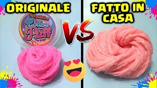 Come FARE il FIZZ SLIME in CASA: FACILE e VELOCE! Cotton Puff Originale Vs Falso! By FrancyDreams