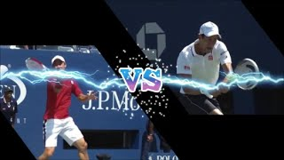 【With Mario Tennis Effects】 Djokovic vs Nishikori  錦織 vs ジョコビッチ エフェクトつけてみた
